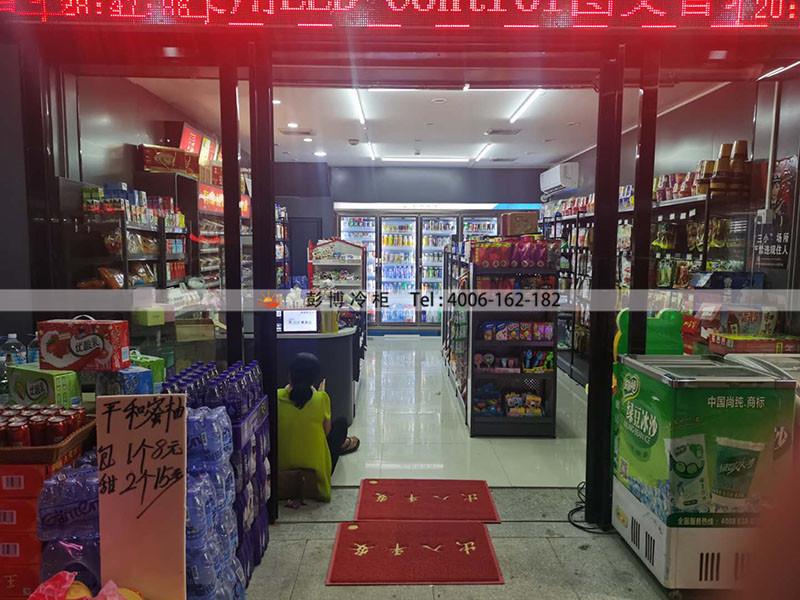 深圳市龙岗区坂田市场168便利店饮料展示柜